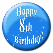 Happy Eighth Birthday Represents Congratulation Congratulations And Celebrate