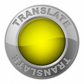 Translate Button Means Vocabulary Language And Multi-lingual
