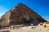 Men working on the Djoser, one of the oldest pyramids in the world.