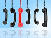 Contact Us Indicates Phone Call And Advice