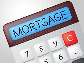 Mortgage Calculator Indicates Borrow Money And Calculate