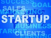 Startup Words Means Self Employed And Entrepreneur