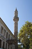 Minaret Tower In Kos City; Greece