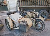 Military Sidecar Motorcycle Bmw R75