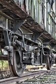 pic of train-wheel  - Rusty wheels of abandoned train in Belgium - JPG