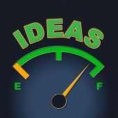 Ideas Gauge Indicates Display Concepts And Inventions