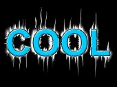 Cool Word Means Coldness Frost And Frosty
