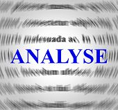 Analyse Definition Represents Data Analytics And Analysis