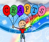Crafts Balloons Shows Artwork Sculptor And Creative