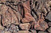 picture of pumice-stone  - Image of volcanic lava stones wall - JPG