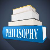 Philosophy Book Shows Non-fiction Morality And Reasoning