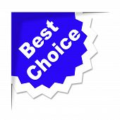 Best Choice Means Finest Ideal And Chief