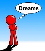 Character Thinking Dreams Shows Consider Consideration And Daydream