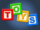 Toys Kids Blocks Means Youths Shopping And Child
