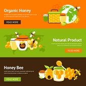 Honey flat banner set