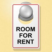 Room For Rent Indicates Place To Stay And Booking