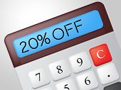 Twenty Percent Off Means Calculator Merchandise And Save