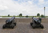 Two Cannons Near River