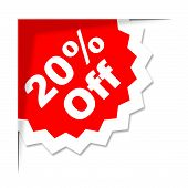 Twenty Percent Off Means Promotion Promotional And Closeout