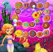 Mermaid boardgame with underwater theme