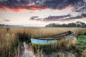 Sunrise over Boat