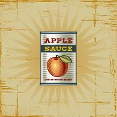 Retro Apple Sauce Can. Vector