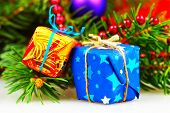 Little christmas gift boxes