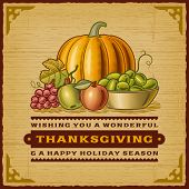 picture of happy thanksgiving  - Vintage Thanksgiving Card - JPG