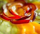 delicious berry tart, food closeup