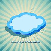 Retro card with cloud sign