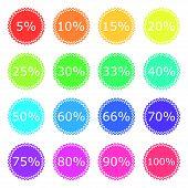 Discount Labels Color Icon Set