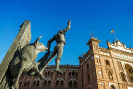 stock photo of bullfighting  - Madrid Landmark - JPG
