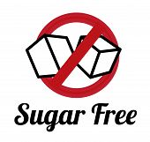 stock photo of free-trade  - Sugar free over white background - JPG