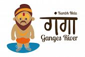 stock photo of guru  - Indian guru design over beige background - JPG