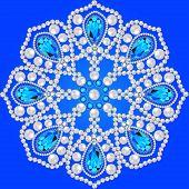 foto of precious stone  - Elegant background with circular ornament of precious stones - JPG