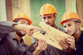 picture of wood craft  - Craft workers in wood factory - JPG