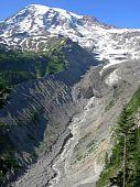 Nisqually glacier on Mount Rainier