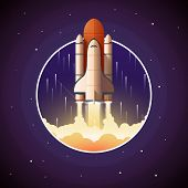 picture of spaceships  - Space Shuttle Launch - JPG