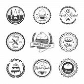 stock photo of food label  - Vintage bakery badges - JPG