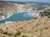 picture of paysage  - view from the top of the mountain at Balaclava in the Crimean Sea Bay - JPG