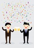 stock photo of office party  - Businessman party with Boss - JPG