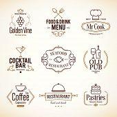 image of food logo  - Vintage logotypes and labels design - JPG