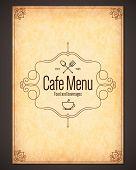 image of cafe  - Menu for restaurant - JPG
