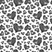 picture of glass heart  - seamless pattern of glass hearts - JPG