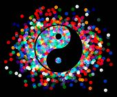picture of yang  - the Yin Yang of confetti - JPG