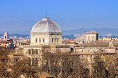 foto of synagogue  - view of the Great Synagogue of Rome Italy - JPG