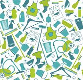 stock photo of cleaning house  - Clean set background - JPG