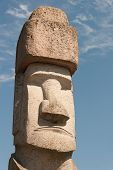 image of rasta  - One Rapa Nui Statue from Easter Island in Viterbo - JPG