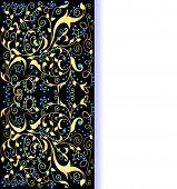 picture of precious stone  - illustration background gold ornaments and precious stones with space for text - JPG