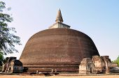 image of vihara  - Rankoth Vihara is a Buddhist Stupa in the ancient city and former capital of Polonnaruwa - JPG